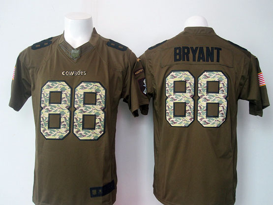 Mens Nfl Dallas Cowboys #88 Bryant Green Salute To Service Limited Jersey