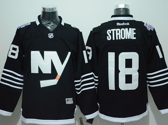 Mens Reebok Nhl New York Islanders #18 Strome Black Jersey