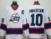 Mens Nhl Winnipeg Jets #10 Hawerchuk White With C Patch New Throwbacks Jersey
