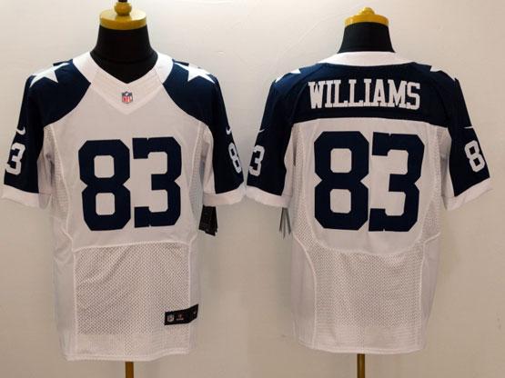 Mens Nfl Dallas Cowboys #83 Williams White Thanksgiving Elite Jersey