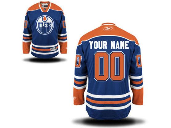 Reebok Edmonton Oilers Blue Home Premier Jersey