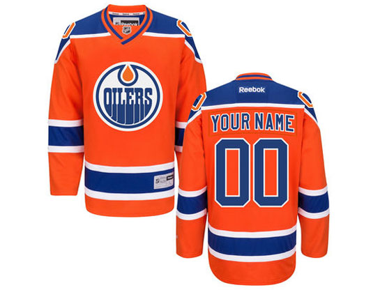 Mens Reebok Edmonton Oilers Orange Alternate Premier Jersey