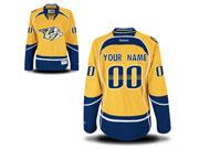 Women Nhl Nashville Predators (custom Made) Yellow Jersey
