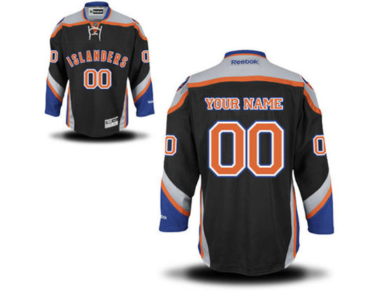 Mens Reebok New York Islanders Black Alternate Premier Jersey
