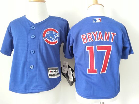 Kids Mlb Chicago Cubs #17 Bryant Blue Jersey