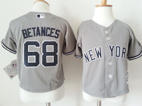 Kids Mlb New York Yankees #68 Betances Gray Jersey