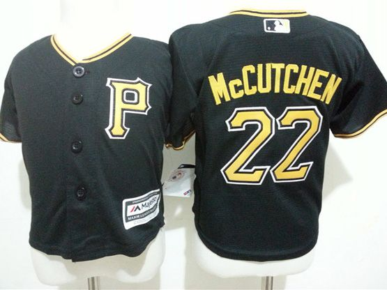 Kids Mlb Pittsburgh Pirates #22 Andrew Mccutchen Black Jersey