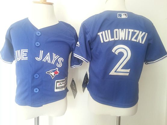 Kids Mlb Toronto Blue Jays #2 Tulowitzki Blue Jersey