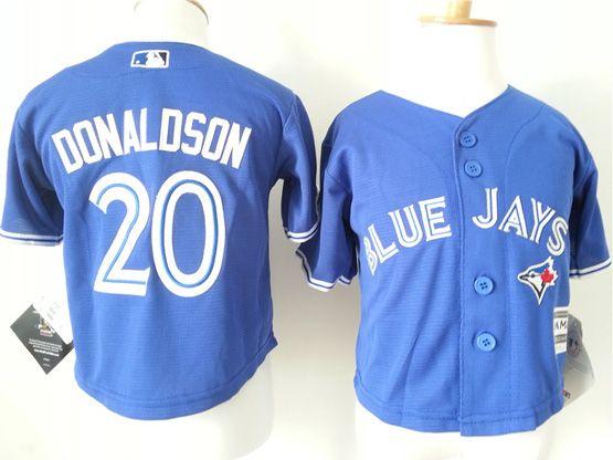 Kids Mlb Toronto Blue Jays #20 Donldson Blue Jersey