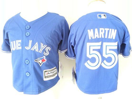 Kids Mlb Toronto Blue Jays #55 Martin Blue Jersey