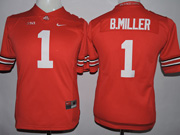 Youth Ncaa Nfl Ohio State Buckeyes #16 Barrett Red (collar Team Name) Jersey