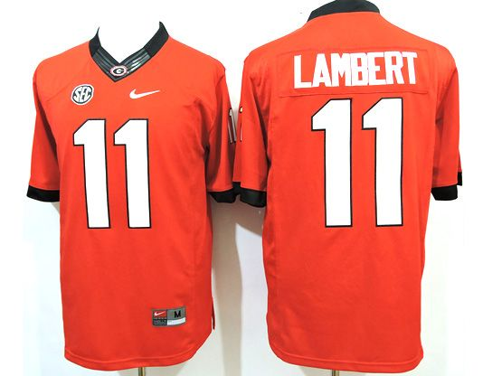 Mens Ncaa Nfl Georgia Bulldogs #11 Lambert Red Sec Limited Jersey