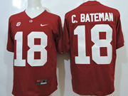 Mens Ncaa Nfl Alabama Crimson #18 C.bateman Red Sec Jersey