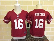 Kids Nfl San Francisco 49ers #16 Montana Red Jersey
