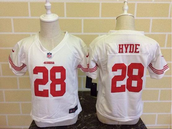 Kids Nfl San Francisco 49ers #28 Hyde White Jersey