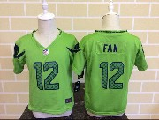 Kids Nfl Seattle Seahawks #12 Fan Green Jersey
