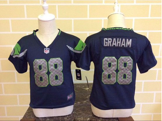 Kids Nfl Seattle Seahawks #88 Graham Blue Jersey