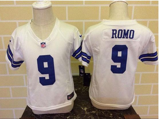 Kids Nfl Dallas Cowboys #9 Romo White Jersey