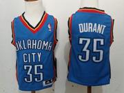 Kids Nba Oklahoma City Thunder #35 Durant Blue Jersey