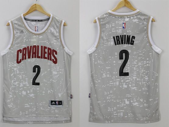 Mens Nba Cleveland Cavaliers #2 Irving Gray Sun Version Jersey