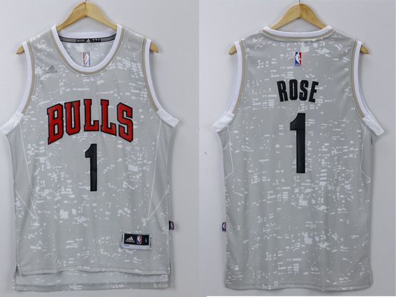 Mens Nba Chicago Bulls #1 Rose Gray Sun Version Jersey