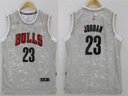 Mens Nba Chicago Bulls #23 Jordan Gray Sun Version Jersey