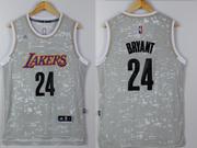 Mens Nba Los Angeles Lakers #24 Kobe Bryant Gray Sun Version Jersey