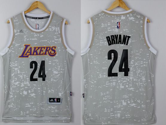 Mens Nba Los Angeles Lakers #24 Kobe Bryant Gray Sun Version Jersey