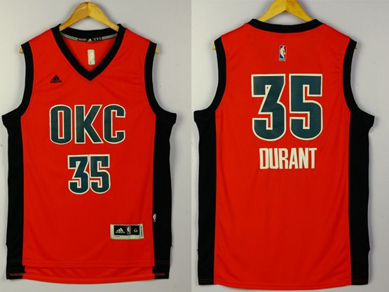 Mens Nba Oklahoma City Thunder #35 Durant Red 2016 Jersey