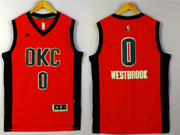 mens nba Oklahoma City Thunder #0 Russell Westbrook red 2016 jersey