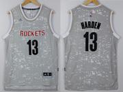 Mens Nba Houston Rockets #13 Harden Gray Sun Version Jersey
