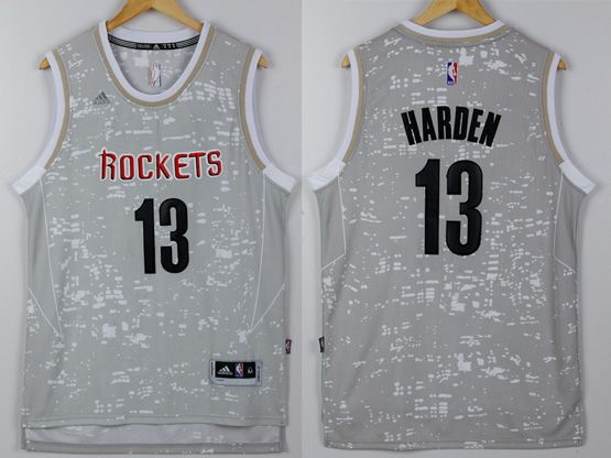 Mens Nba Houston Rockets #13 Harden Gray Sun Version Jersey