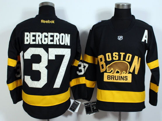 mens nhl boston bruins #37 Patrice Bergeron black (2016 winter classic) jersey