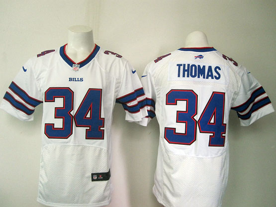 mens nfl buffalo bills #34 Thurman Thomas white elite jersey