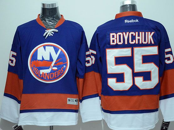 Mens reebok nhl new york islanders #55 boychuk blue Jersey