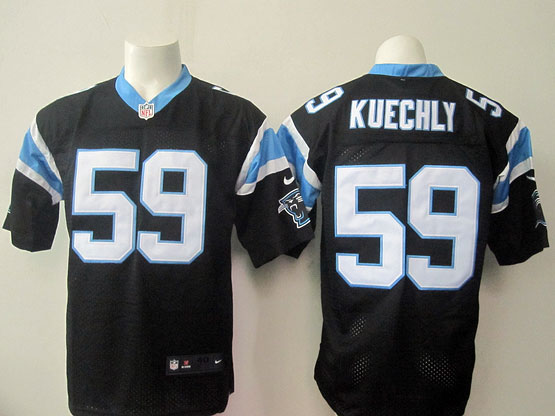 Mens Nfl Carolina Panthers #59 Kuechly Black Elite Jersey