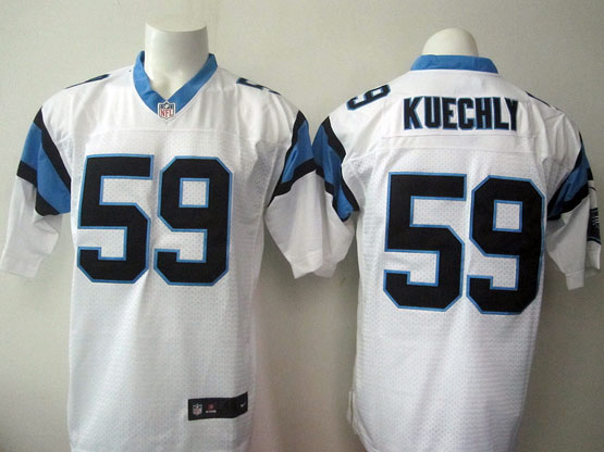 Mens Nfl Carolina Panthers #59 Kuechly White Elite Jersey