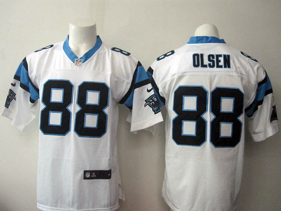 Mens Nfl Carolina Panthers #88 Olsen White Elite Jersey