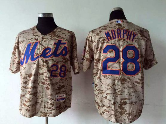 Mens Mlb New York Mets #28 Murphy Camo Jersey