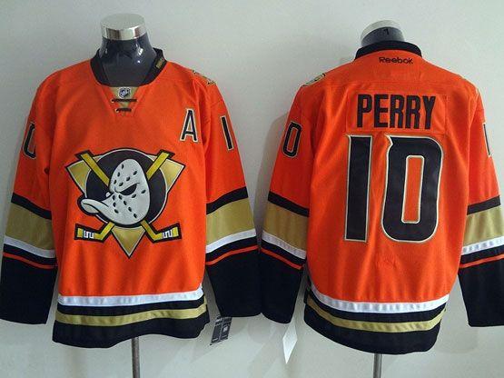 Mens Reebok Nhl Anaheim Mighty Ducks #10 Perry Orange (2015 New) Jersey