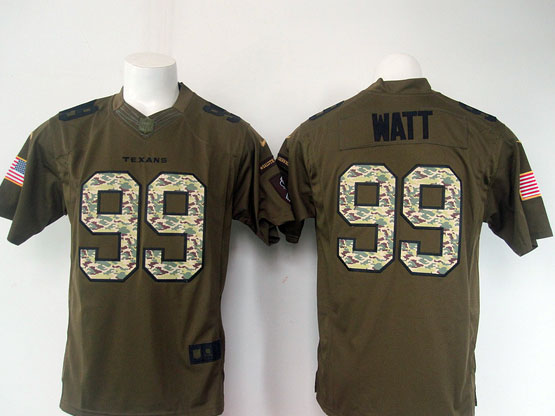 mens nfl Houston Texans #99 JJ Watt green salute to service limited jersey