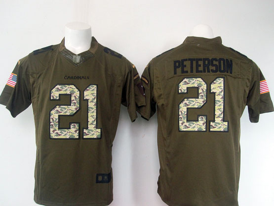 Mens Nfl Arizona Cardinals #21 Patrick Peterson Green Salute To Service Limited Jersey