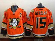 Mens Reebok Nhl Anaheim Mighty Ducks #15 Getzlaf Orange (2015 New) Jersey