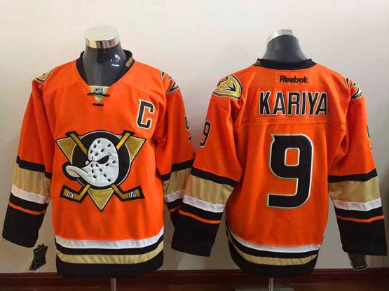Mens Reebok Nhl Anaheim Mighty Ducks #9 Kariya Orange (2015 New) Jersey