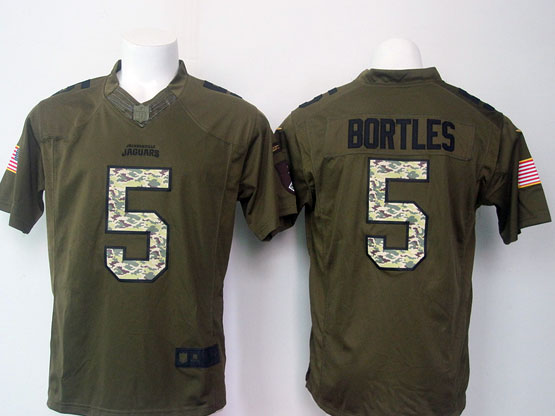 mens nfl Jacksonville Jaguars #5 Blake Bortles green salute to service limited jersey