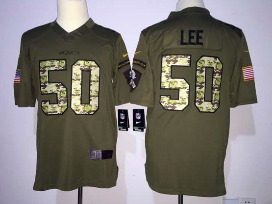 Mens Nfl Dallas Cowboys #50 Lee Green Salute To Service Limited Jersey