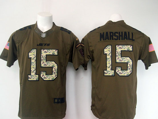 Mens Nfl New York Jets #15 Marshall Green Salute To Service Limited Jersey