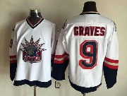 Mens Nhl New York Rangers #9 Graves White (logo Patch) Throwbacks Jersey