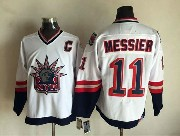 Mens Nhl New York Rangers #11 Messier White (logo Patch) Throwbacks Jersey