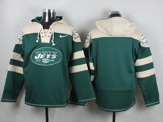 Mens Nfl New York Jets (blank) Green (new Single Color) Hoodie Jersey